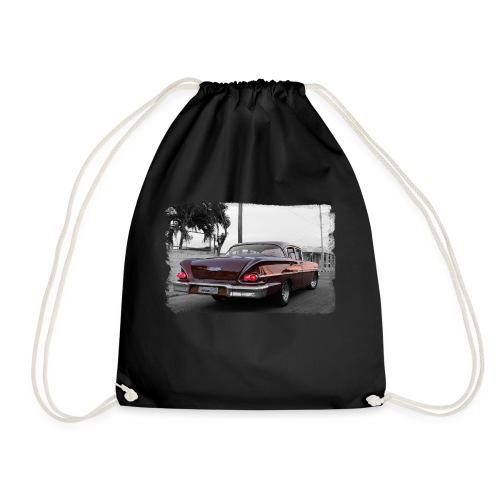 wine red car - Drawstring Bag