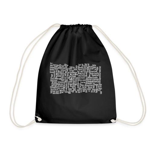 Jackspeak (white) - Drawstring Bag