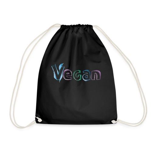 vegan watercooler design - Drawstring Bag