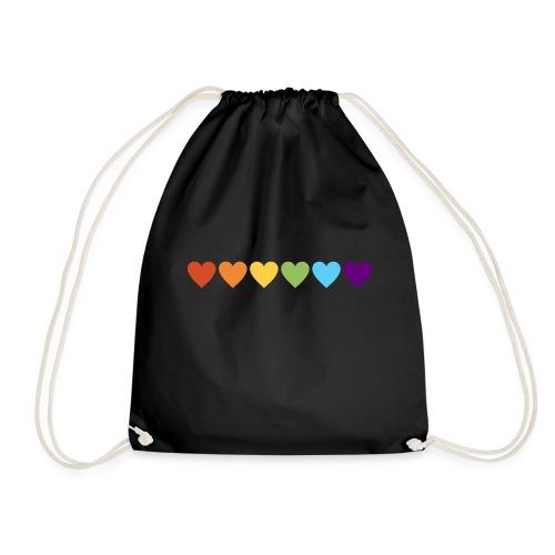 Regenboog hartjes pride - Gymtas