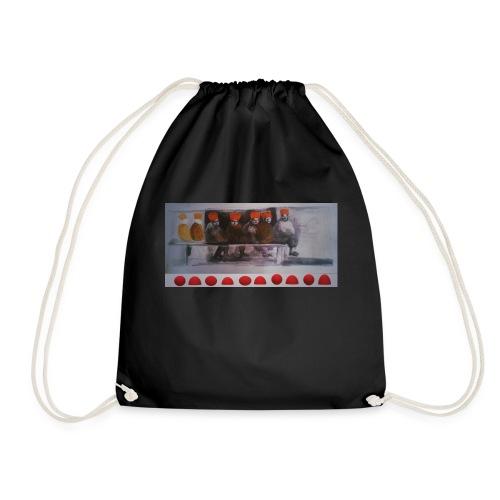 winter peple - Drawstring Bag