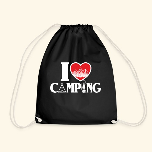 I love camping Herz Berge Zelt Lampe Tent Woods - Turnbeutel