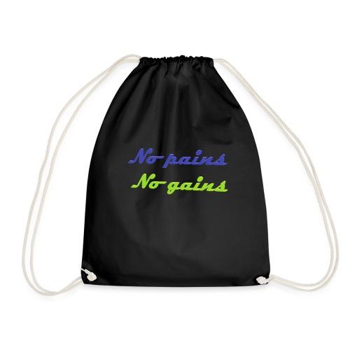No pains no gains Saying with 3D effect - Drawstring Bag