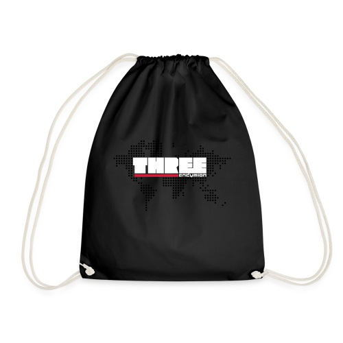 World Tour THREE Front 3 Colors - Drawstring Bag