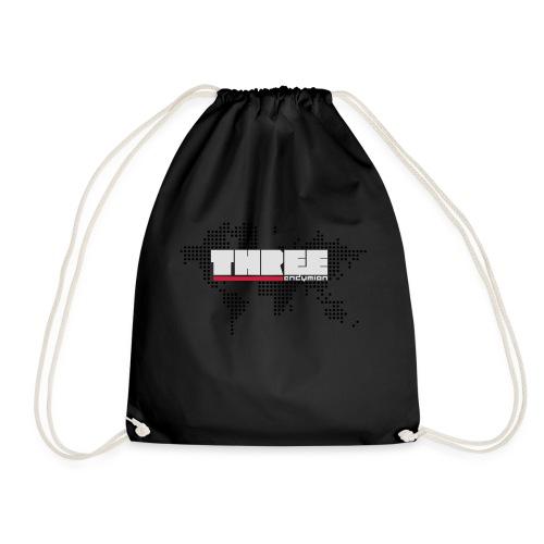 World Tour THREE Front 3 Colors - Drawstring Bag