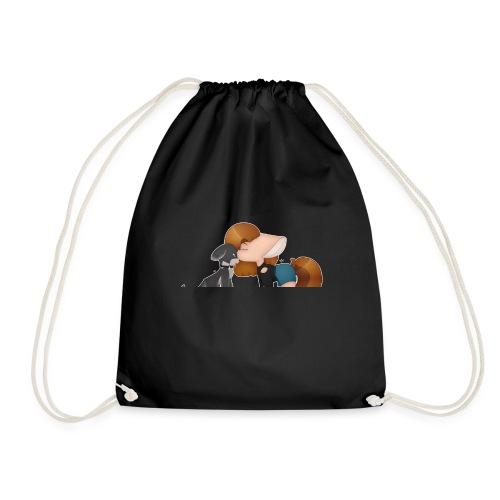 Fursona and Teddy - Drawstring Bag