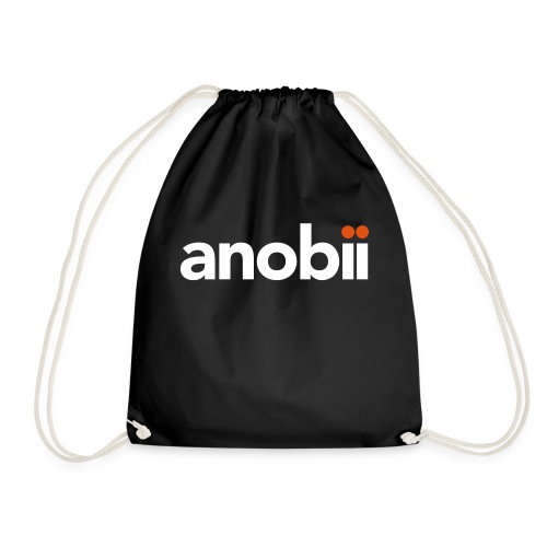Anobii logo (white) - Drawstring Bag