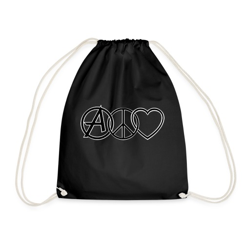 ANARCHY PEACE & LOVE - Drawstring Bag