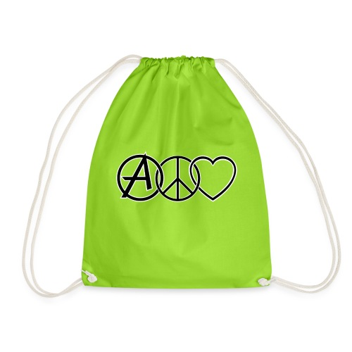 ANARCHY PEACE & LOVE - Drawstring Bag