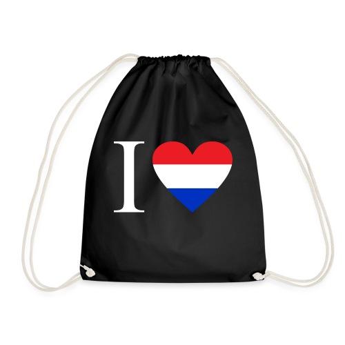 Ik hou van Nederland | Hart met rood wit blauw - Gymtas