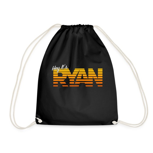 Hey It's Ryan! Orange Fade - Drawstring Bag