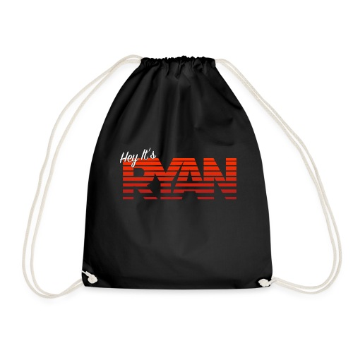 Hey It's Ryan! Red Fade - Drawstring Bag