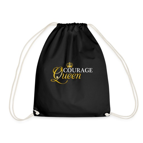 courage queen - Drawstring Bag