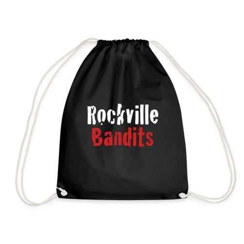 Rockville Bandits Schriftzug weiss - Turnbeutel