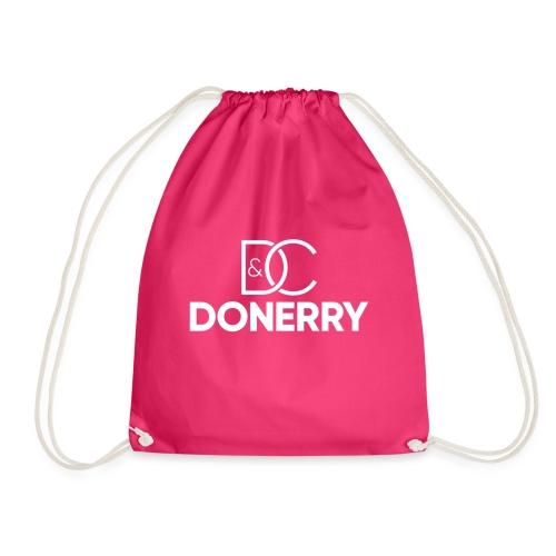DONERRY New White Logo on Dark - Drawstring Bag