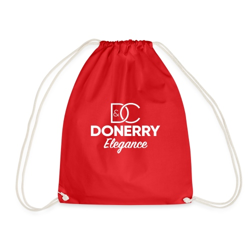 Donerry Elegance NEW White on Dark - Drawstring Bag
