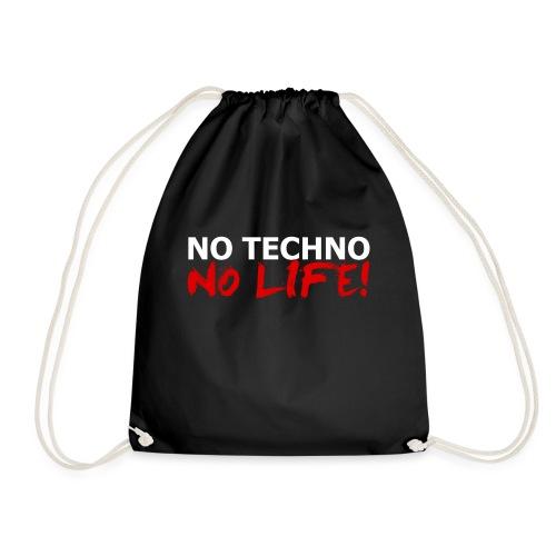 NO TECHNO, NO LIFE! T-Shirt - Turnbeutel