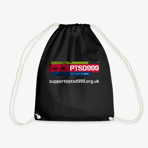 PTSD999 Logo 3 - Drawstring Bag