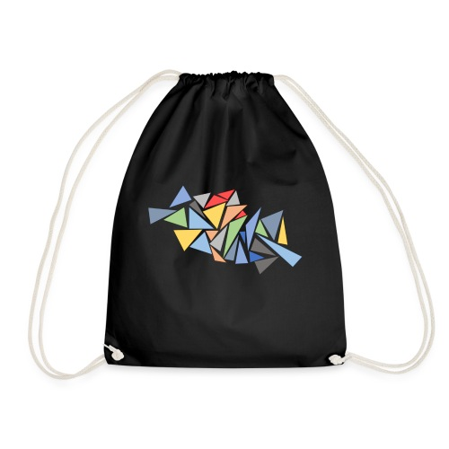 Modern Triangles - Drawstring Bag