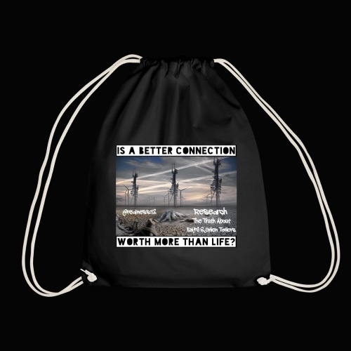 Better Connection? Truth T-Shirts!!! #5G #Research - Drawstring Bag