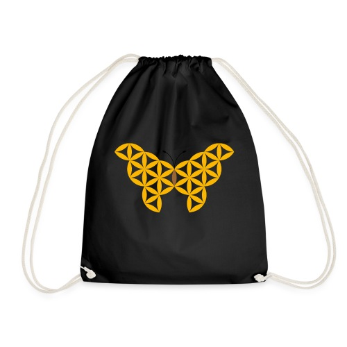 The Butterfly Of Life - Sacred Animals - Drawstring Bag