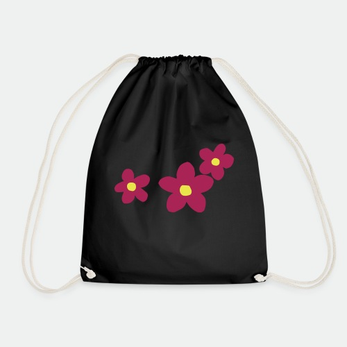 Three Flowers - Drawstring Bag