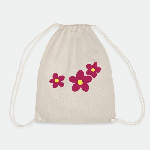 Three Flowers - Drawstring Bag
