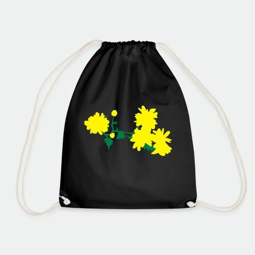 Asian flowers - Drawstring Bag