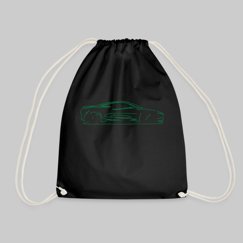 car sketch - Drawstring Bag