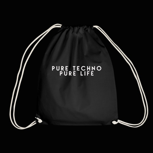 Pure Techno Pure Life White - Turnbeutel