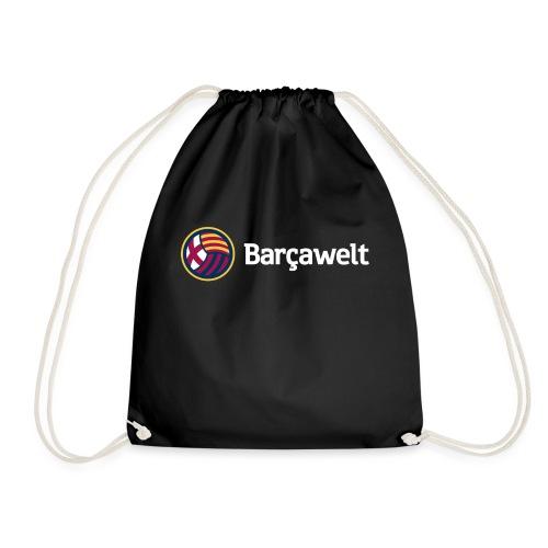 Barcawelt Logo mit Slogan - Turnbeutel