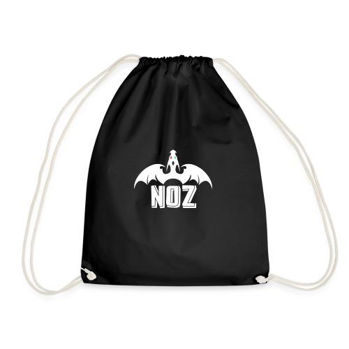 NOZlogoWhite no black - Drawstring Bag