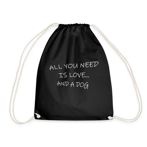 All you need is love..and dog - Mochila saco