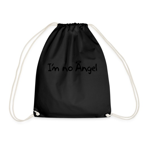 No Angel text-1 - Drawstring Bag
