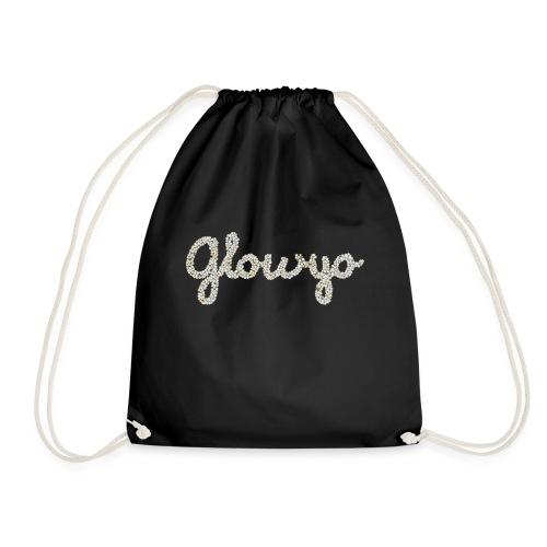 Glow yo ontwerp zilver - Gymtas