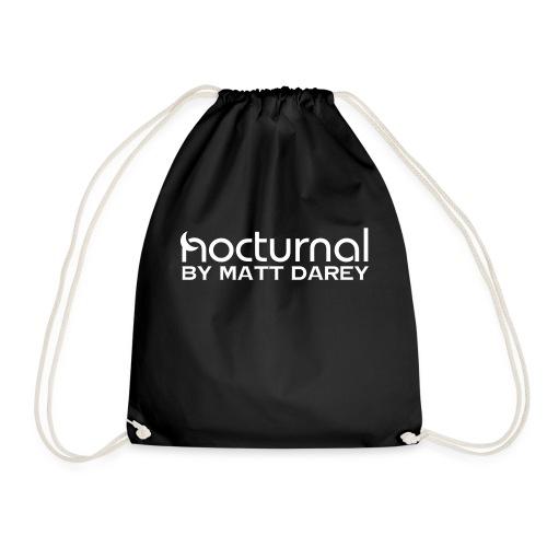 Nocturnal by Matt Darey White - Drawstring Bag