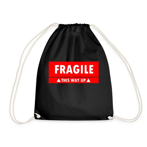Fragile - This Way Up - Drawstring Bag