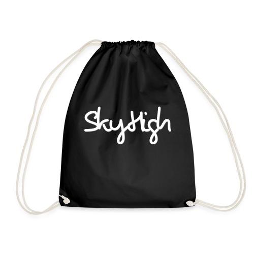 SkyHigh - Women's Chill Shirt - White Lettering - Drawstring Bag