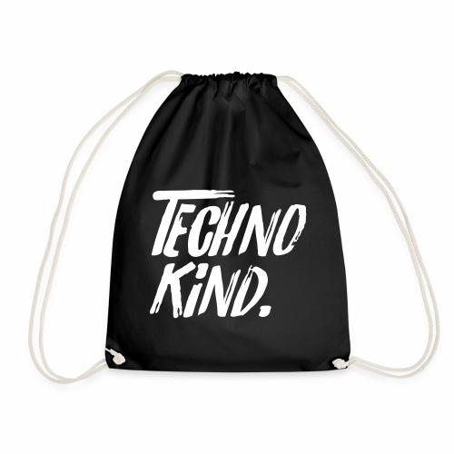 Techno Kind Raver Familie Afterhour Musik DJ Liebe - Turnbeutel