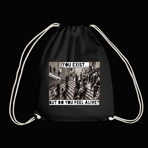 You Exist? Truth T-Shirts!! @realness112 #WakeUp - Drawstring Bag