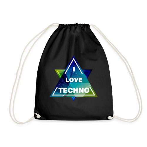 I LOVE TECHNO Shirt - Turnbeutel