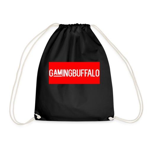 Long Logo RED - Drawstring Bag
