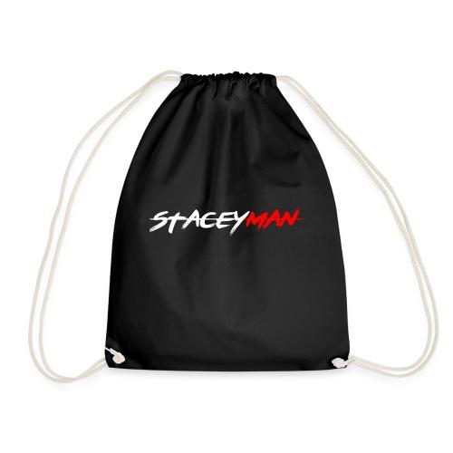 staceyman red design - Drawstring Bag