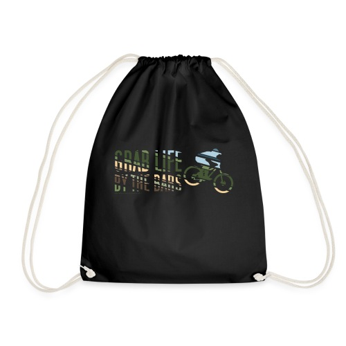 Enduro Mountain Bike Print - Drawstring Bag