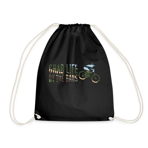 Enduro Mountain Bike Print - Drawstring Bag