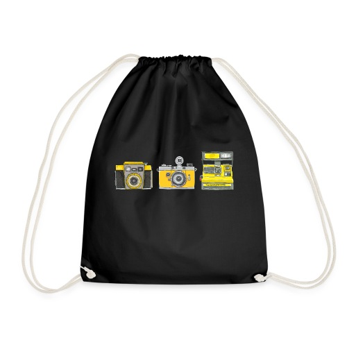 Ilex 3 Yellow Cameras - Drawstring Bag