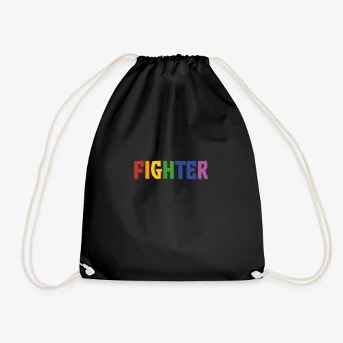 Fighter Pride (Rainbow) - Drawstring Bag