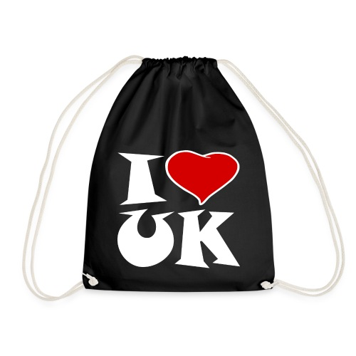 England - Ich Liebe UK - Turnbeutel