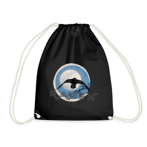 Australian Raven Full Moon - Drawstring Bag