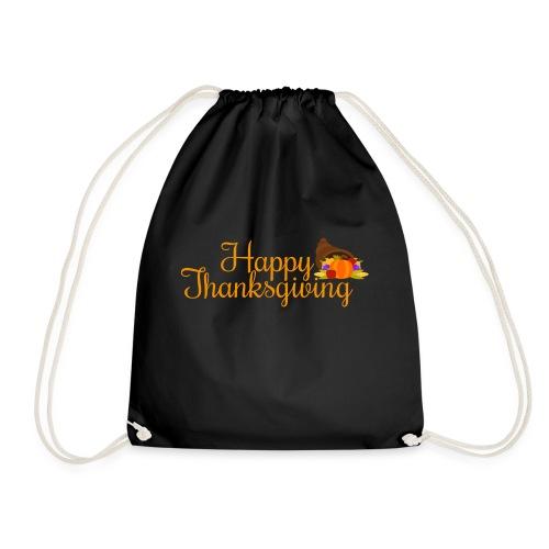 Happy Thanksgiving Words - Drawstring Bag